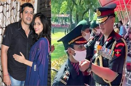 पुलवामा में शहीद मेजर विभूति शंकर ढौंडियाल की पत्नी निकिता कौल सेना...