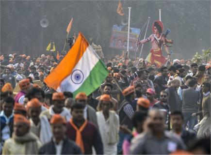 राम मंदिर के लिए आंदोलन, दिल्ली की रामलीला मैदान में जुटे विश्व हिंदू...