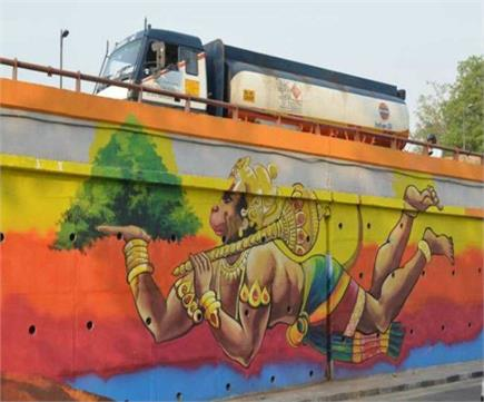 दिल्ली में फ्लाईओवर का हुआ मेकओवर, दीवारों पर बनाई गईं कई सुंदर...