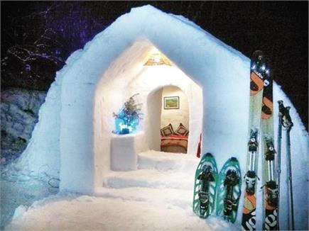 बर्फ के घर में रहने का शौक है तो चले आइए मनाली (Watch Pics)