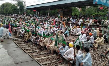तस्वीरों में देखें हरियाणा में रेल रोको आंदोलन का असर