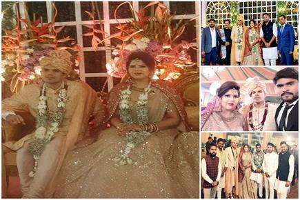 शादी के बंधन में बंधे SP नेता अनिल यादव और पंखुड़ी पाठक