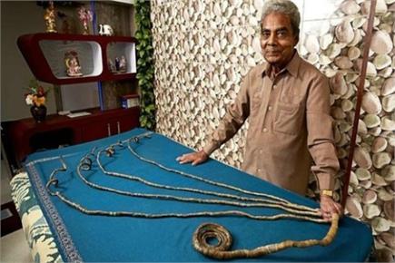 66 साल बाद श्रीधर चिल्लाल ने काटे नाखून, गिनीज वर्ल्ड रिकॉर्ड में नाम...