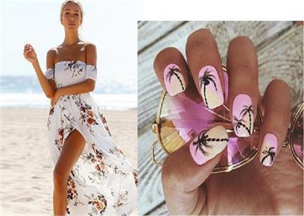 Beach Vacation पर जा रहे हैं तो ट्रैंडी Tropical Nail Art करना ना...