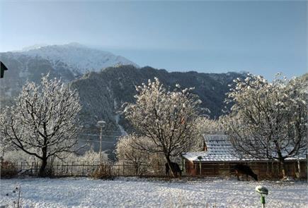 जम्मू-कश्मीर में बर्फबारी बनी मुसीबत, तो 'जन्नत' जैसा दिखा मनाली