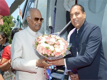 राष्ट्रपति बनने के बाद पहली बार हिमाचल दौरे पर रामनाथ कोविंद (Watch...