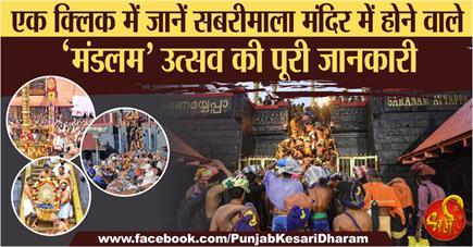 एक क्लिक में जानें सबरीमाला मंदिर में होने वाले 'मंडलम' उत्सव की पूरी...