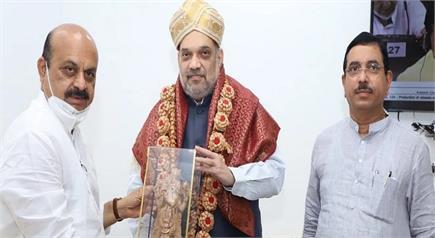 कर्नाटक के नए CM बसवराज बोम्मई दिल्ली में, अमित शाह और राजनाथ सिंह से...