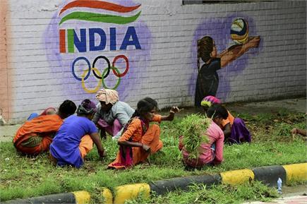 टोक्यो ओलंपिक की धूम भारत में भी, दीवारें बयां कर रहीं लोगों का जोश