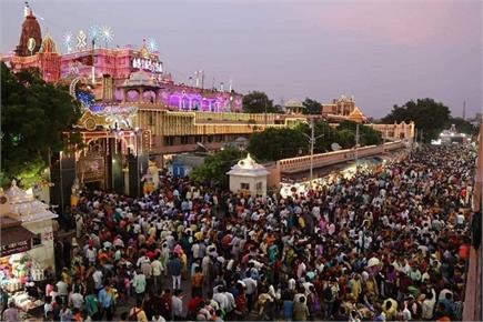 मथुरा में कृष्ण जन्मोत्सव का विहंगम दृश्य