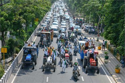 देशभर में कृषि बिल के खिलाफ किसानों के हल्ला बोल की तस्वीरें