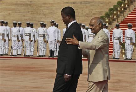 जाम्बिया के राष्ट्रपति एडगर चागवा लुंगुइन को गार्ड ऑफ ऑनर, राष्ट्रपति...