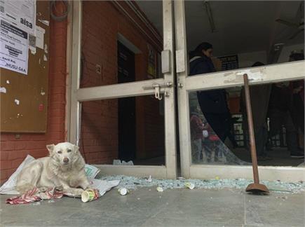 दिल्ली JNU में हिंसा, नकाबपोशों ने की तोड़फोड़