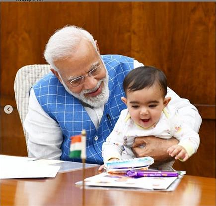 PM मोदी से मिलने आया खास दोस्त, शेयर की खूबसूरत तस्वीरें