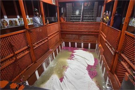 तीर्थराज में मां गंगा ने किया हनुमान का जलाभिषेक