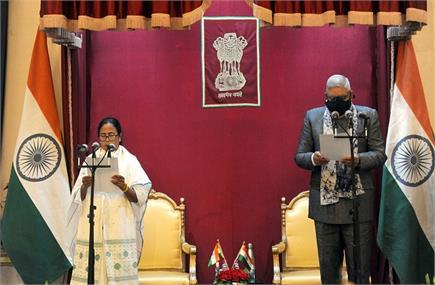 ममती बनर्जी ने तीसरी बार संभाली पश्चिम बंगाल की सत्ता