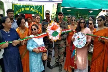 बहनों ने सैनिकों को बांधी राखी, उपहार में भाईयों ने दिए पौधे