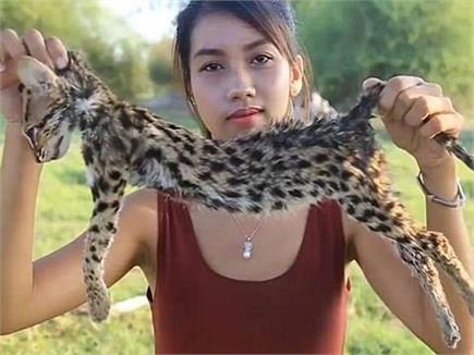 पैसे के लिए जंगली जानवरों को मार खा गई ये लड़की