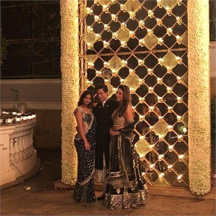 शाहरुख ने रखी पार्टी, जैकलीन से लेकर शिल्पा तक ट्रेडीशनल लुक में...