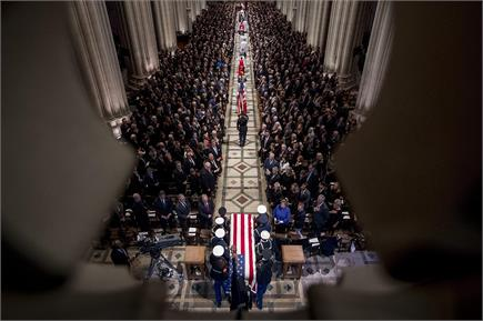 अमेरिका के पूर्व राष्ट्रपति जॉर्ज एच डब्ल्यू बुश को दी गई अंतिम...