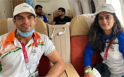 घर लौटे ओलंपिक के जांबाज, देखें एयपरपोर्ट पर जोरदार स्वागत की तस्वीरें