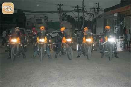 सिख मोटरसाइकिल क्लब के 6 सिख राइडर्स ने निकाला चेतना मार्च