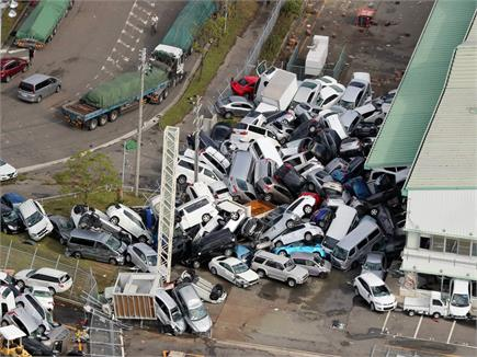 जापान में जेबी ने मचाया कहर, देखें तस्वीरें