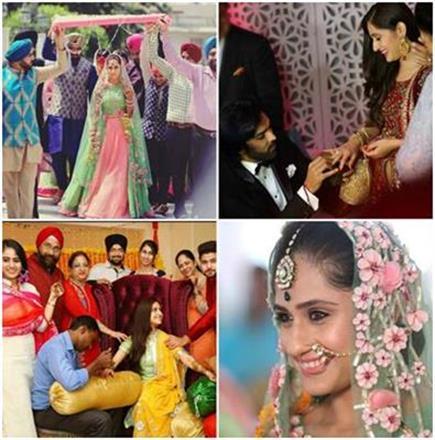 मयंक-हुनर की मेहंदी से शादी तक की Wedding तस्वीरें