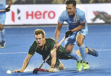 हॉकी विश्व कप : भारत-दक्षिण अफ्रीका मैच की झलकियां