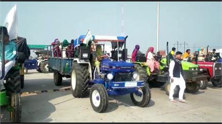 महिला किसानों ने की दिल्ली परेड की फाईनल रिहर्सल, देखें तस्वीरें