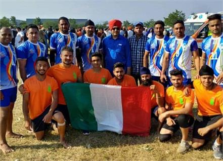kabaddi team leaves for italy to participate in european championship