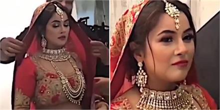 shehnaaz gill bridal look video viral