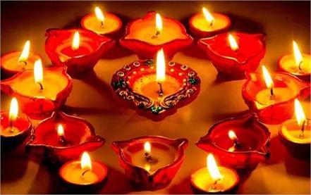 diwali festival stylish diya lights home