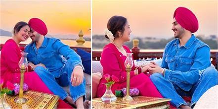 neha kakkar rohanpreet celebrate their first wedding anniversary