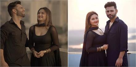 rahul vaidya rashami desai romantic video