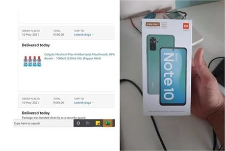 man orders mouthwash from amazon receives redmi note 10 instead