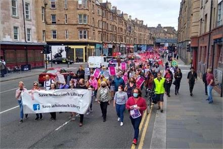 hundreds of people protested against closure of glasgow life community venues