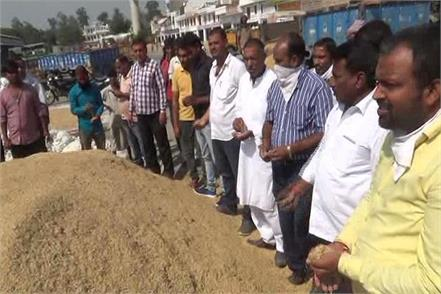 fear in farmers by getting lower rate of paddy in ganaan grain market