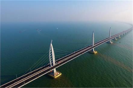 world s longest sea bridge between china hong kong will start from 24 oct