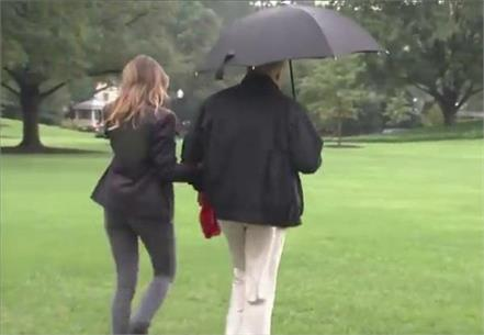 a tale of two umbrellas meghan markle shared donald trump didn t