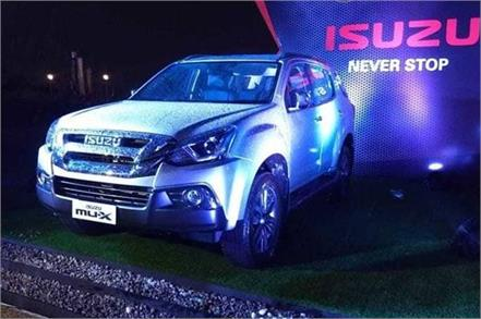 isuzu mu x facelift launched in india