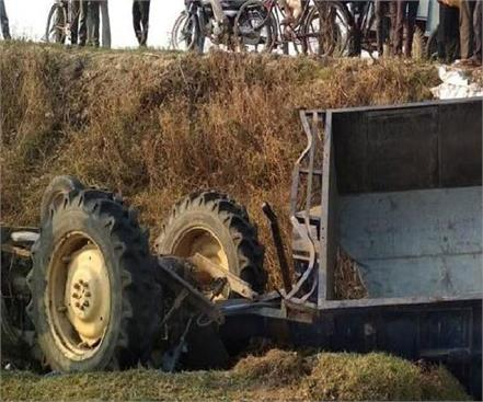 three members of family killed in saharanpur under pressure of tractor