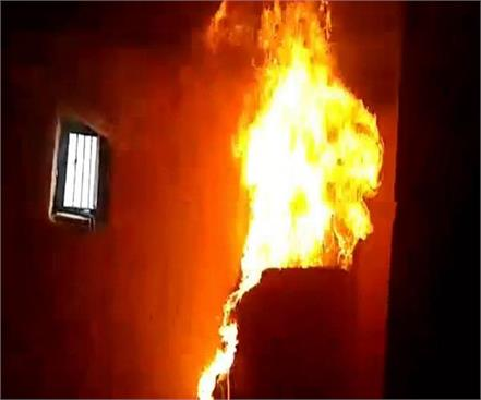 mahoba every 20 minutes fire in a new house panic in people