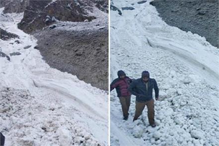glacier in shakoli nallah of udaipur