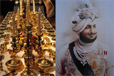 maharajas were the owners of the dinner set of 17 million