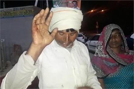 police officers beaten wife of former sarpanch