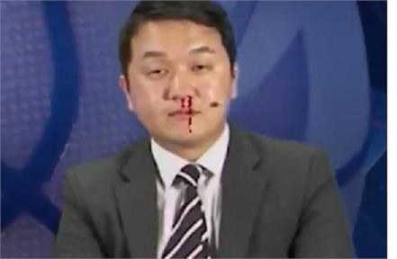 korean anchor suffers nosebleed live on air