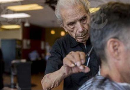 the world s oldest barber is 107 and still cutting hair full time