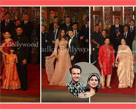 bollywood celebs and guest arrives at isha ambani anand piramal wedding