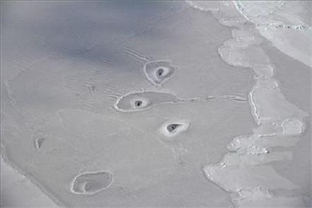 nasa baffled by mysterious ice circles in the arctic